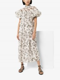 LEE MATHEWS Lucy floral print dress / feminine high neck dresses