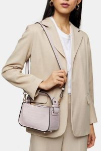 Topshop Lilac Colour Block Mini Grab Bag