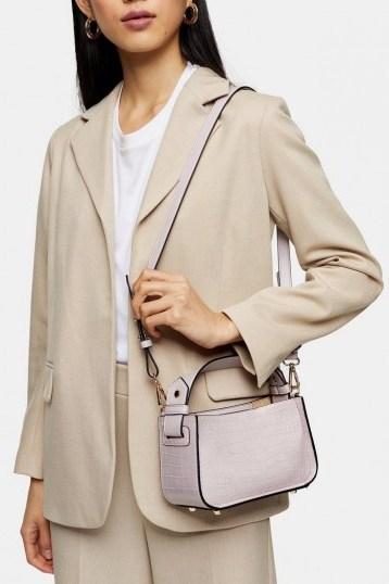 Topshop Lilac Colour Block Mini Grab Bag - flipped