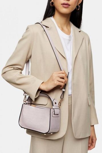 Topshop Lilac Colour Block Mini Grab Bag