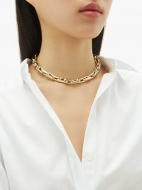 LAUREN RUBINSKI Link-chain gold choker – luxury chokers