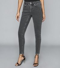 REISS LUX MID RISE SKINNY JEANS GREY ~ everyday skinnies