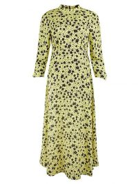 OLIVER BONAS Martha Yellow Floral Print Midi Dress
