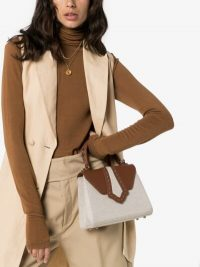 Mehry Mu Brown Fey Herringbone Bag | small top handle bags
