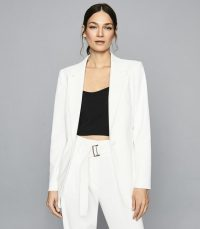 Reiss MIA FLUID SINGLE BREASTED BLAZER WHITE – suit jackets