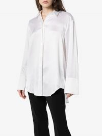 Michael Lo Sordo Button-Down Silk Shirt White – simple luxury – effortless style