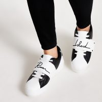 River Island Monochrome blocked 'River' velcro trainers