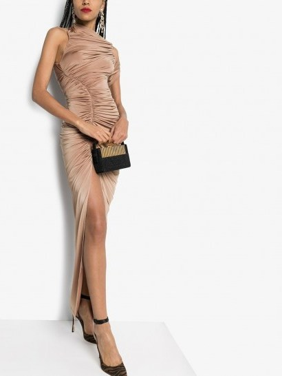 MUGLER ruched asymmetric gown – luxe eventwear - flipped