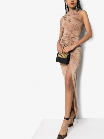 MUGLER ruched asymmetric gown – luxe eventwear