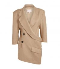 Natasha Zinko Asymmetric Wrap-Around Jacket in beige