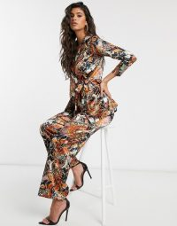 New Girl Order dragon floral satin co-ord