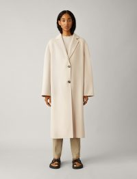 JOSEPH Newman Double Face Cashmere Coat in Rosewater / relaxed fit overcoats / luxury coats