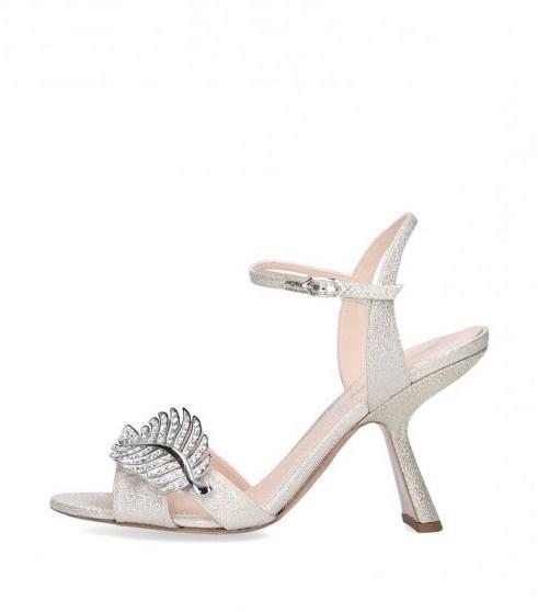Nicholas Kirkwood Monstera Sandals 90 in silver - flipped
