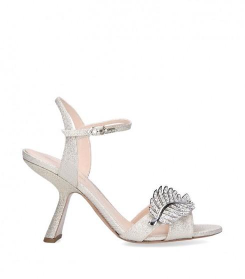 Nicholas Kirkwood Monstera Sandals 90 in silver