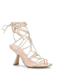 NICHOLAS KIRKWOOD Selina sandals in metallic gold