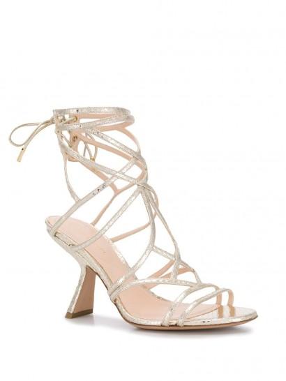 NICHOLAS KIRKWOOD Selina sandals in metallic gold