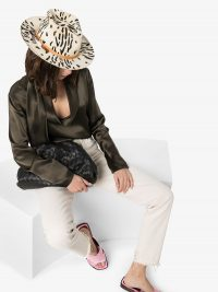NICK FOUQUET Zeal zebra-print wool-felt hat