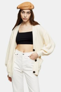 Topshop Oat Midi Knitted Cardigan | neutral knits