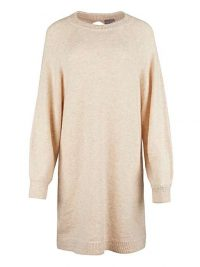 OLIVER BONAS Oatmeal Open Back Knitted Jumper Dress | neutral sweater dresses