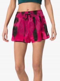 OFF-WHITE high waist tie dye shorts