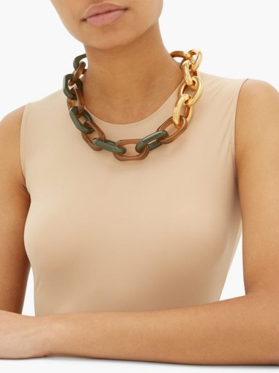 MARNI Oversized chain-link necklace ~ chunky chains