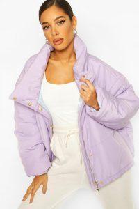 boohoo Lilac Oversized Puffer Jacket