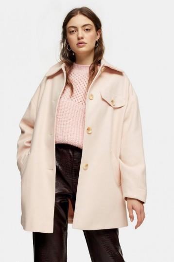 TOPSHOP Pale Pink Shacket – shackets
