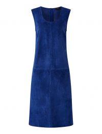 JOSEPH Patty Suede Dress in Klein ~ blue sleeveless dresses