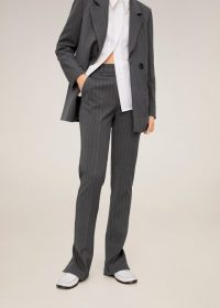 MANGO Pinstripe suit pants in grey REF. 67042903-DIPLO-I-LM – striped trousers
