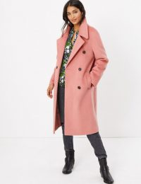 M&S COLLECTION Raglan Sleeve Overcoat in Antique Rose