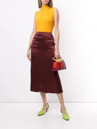 REJINA PYO fitted ruched sides skirt