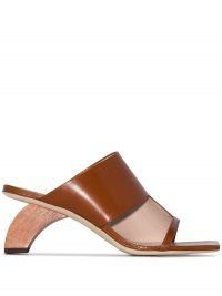 REJINA PYO Leah 60 wooden heel sandals / contemporary shaped heels