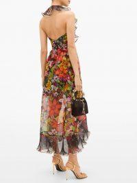 DUNDAS Ruffled floral silk-organza dress – feminine ruffles