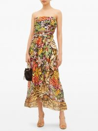 DUNDAS – Ruffled floral-print silk-blend chiffon dress – feminine occasion look