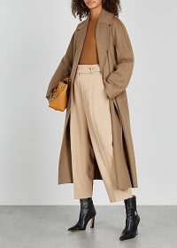 'S MAX MARA Reus camel belted wool coat ~ classic style coats