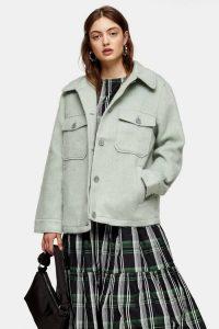 TOPSHOP Sage Jacket With Wool