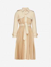 SANDRO in beige Vino belted satin-crepe coat