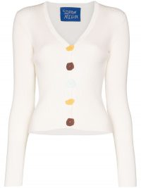 SIMON MILLER Nepa button detail cardigan in white