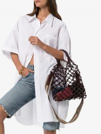 Stella McCartney Knotted Structure Tote / chic net bags