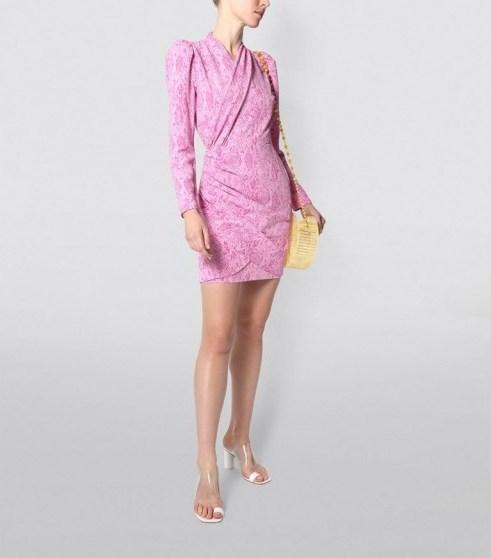 Stine Goya Snake Print Clem Mini Dress ~ ruched party dresses - flipped