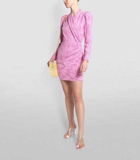Stine Goya Snake Print Clem Mini Dress ~ ruched party dresses