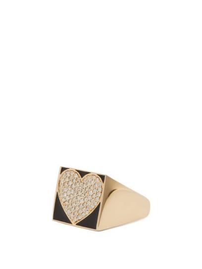 ALISON LOU Superlou pavé-diamond & gold ring