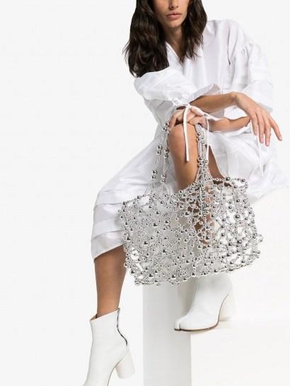 SUSAN FANG bubble detail tote | metallic bags - flipped