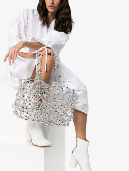 SUSAN FANG bubble detail tote | metallic bags