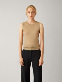 JOSEPH Tank Lurex Knit in Tan / sleeveless tops