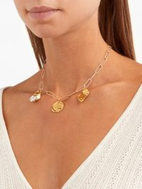 ALIGHIERI The Bea Charm 24kt gold-plated necklace