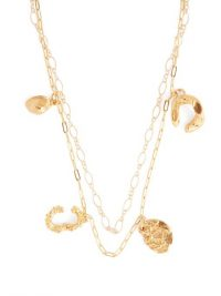 ALIGHIERI The Catalyst 24kt gold-plated necklace ~ double-chain charm necklaces