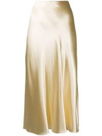THE ROW satin a-line skirt in beige ~ luxe skirts