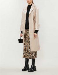 TOPSHOP Milla vinyl longline coat – high shine outerwear