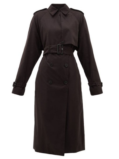 THE ROW Triana belted brushed-twill trench coat in black